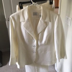 Off white linen jacket